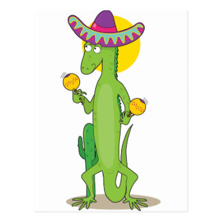 Animal Alphabet Iguana Postcard
