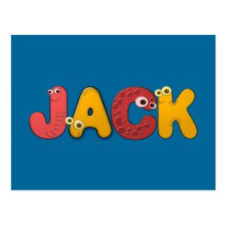 animal alphabet Jack Postcards