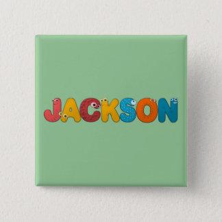 animal alphabet Jackson Pinback Button