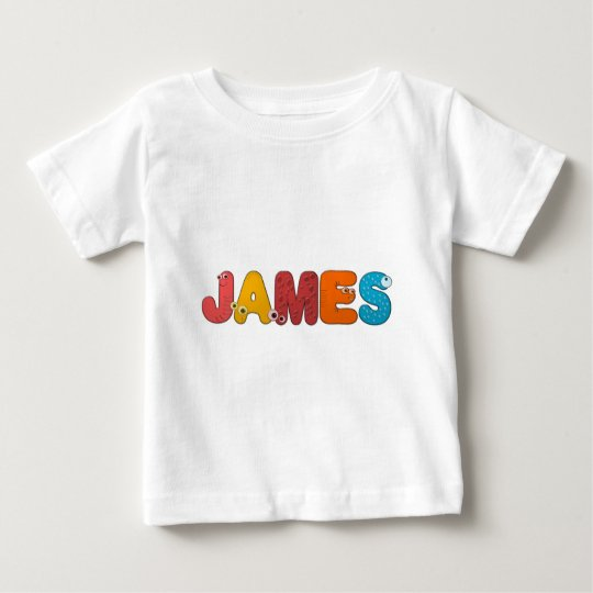 animal alphabet James Baby T-Shirt