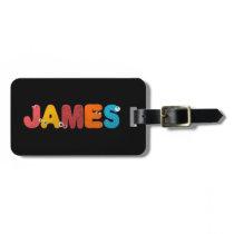 animal alphabet James Luggage Tag