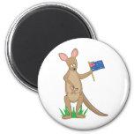 Animal Alphabet Kangaroo 2 Inch Round Magnet