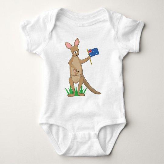 Animal Alphabet Kangaroo Baby Bodysuit