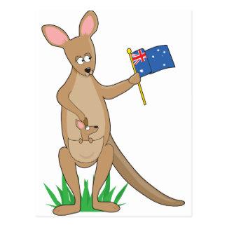 Animal Alphabet Kangaroo Postcard