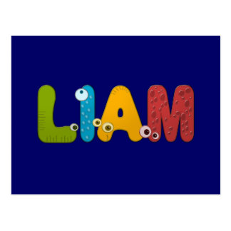 animal alphabet Liam Postcard