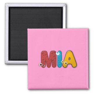animal alphabet Mia 2 Inch Square Magnet