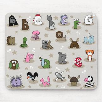 Animal Alphabet Mouse Pad