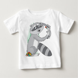 Animal Alphabet Raccoon Baby T-Shirt