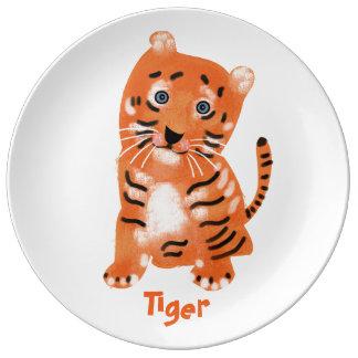 Animal Alphabet. Tiger. Plate