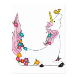 Animal Alphabet Unicorn Postcard