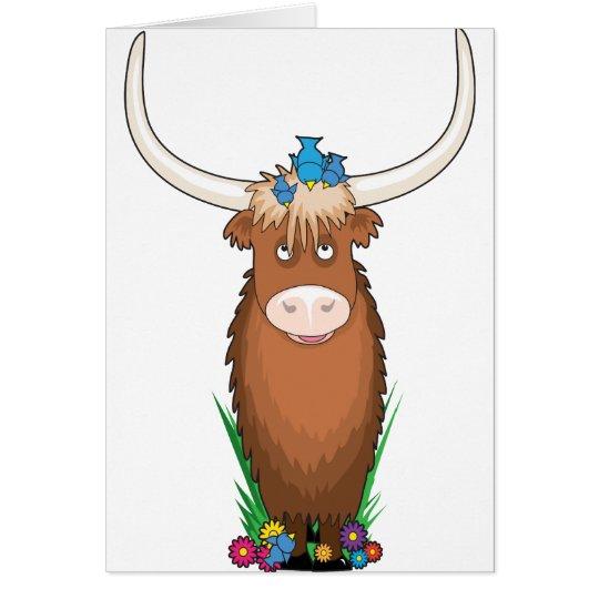 Animal Alphabet Yak Card