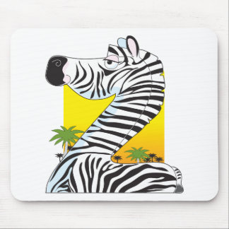 Animal Alphabet Zebra Mouse Pad