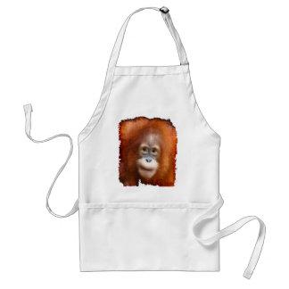 Animal-Amantes de la fauna del orangután del gran Delantal