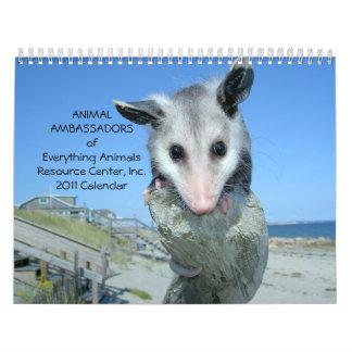 Animal Ambassadors 2011 Wall Calendar