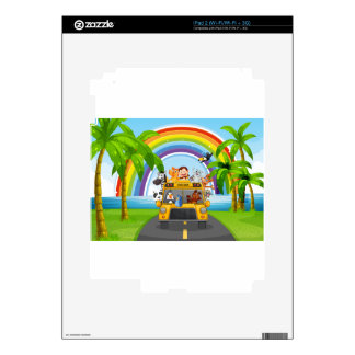 Animal and bus decals for the iPad 2