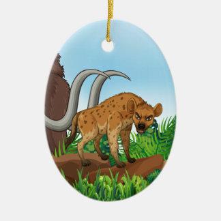 Animal and jungle ceramic ornament