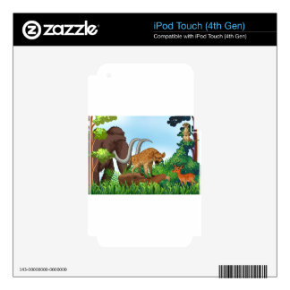 Animal and jungle decals for iPod touch 4G