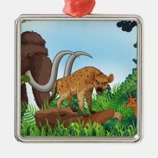 Animal and jungle metal ornament