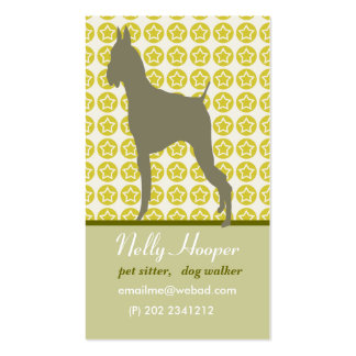 Animal and Stars. Cute Dog Business Card Template