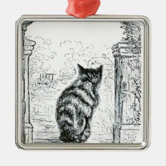 Animal - Animal acting human - Cat complainingr.pn Metal Ornament
