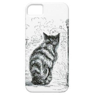 Animal - animal que actúa humano - gato complainin iPhone 5 Case-Mate protectores