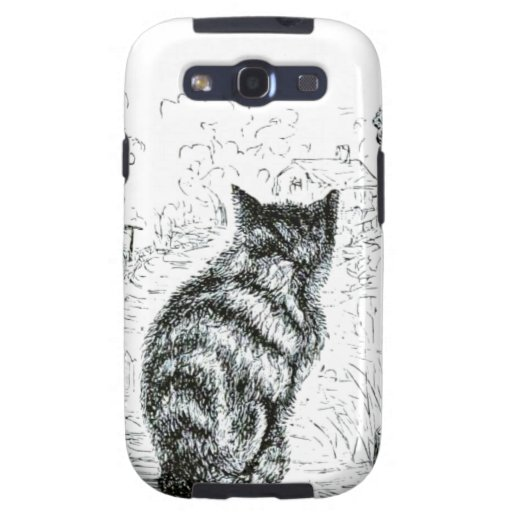 Animal - animal que actúa humano - gato complainin galaxy SIII coberturas