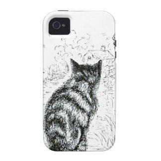 Animal - animal que actúa humano - gato complainin Case-Mate iPhone 4 fundas