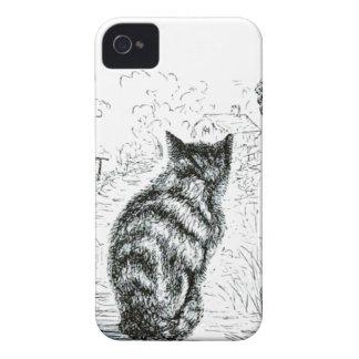 Animal - animal que actúa humano - gato complainin iPhone 4 Case-Mate cobertura