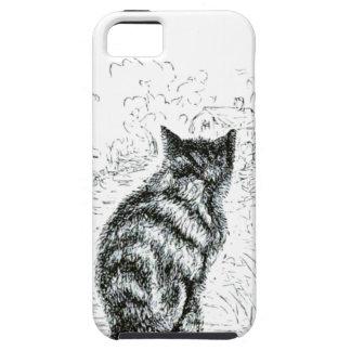 Animal - animal que actúa humano - gato complainin iPhone 5 protectores