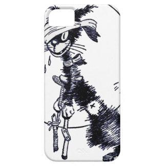 Animal - animal que actúa humano - gato hacia fuer iPhone 5 funda