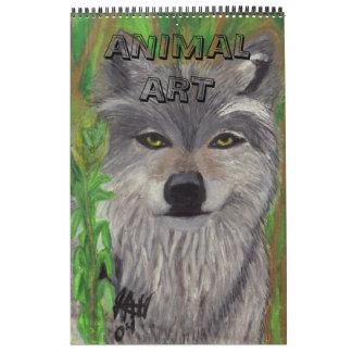 ANIMAL  ART calender Calendar