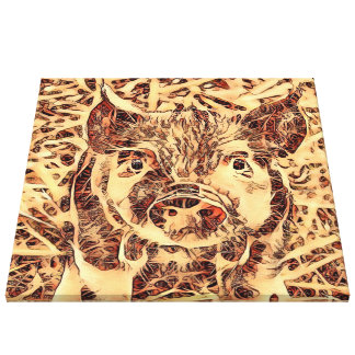 Animal ArtsStudio- amazing piglet Canvas Print