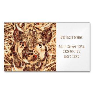 Animal ArtsStudio- amazing piglet Magnetic Business Card