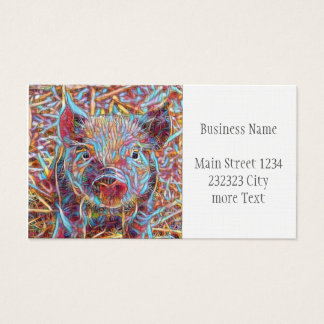 Animal ArtStudio- funky piglet Business Card