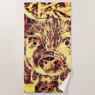 Animal Artstudio Piglet Beach Towel