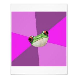 """Animal asqueroso Meme del consejo de la rana de Ba Folleto 4.5"""" X 5.6"""""""
