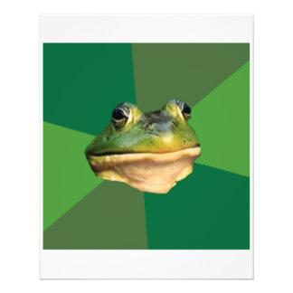 "Animal asqueroso Meme del consejo de la rana del s Folleto 4.5"" X 5.6"""
