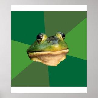 Animal asqueroso Meme del consejo de la rana del s Póster