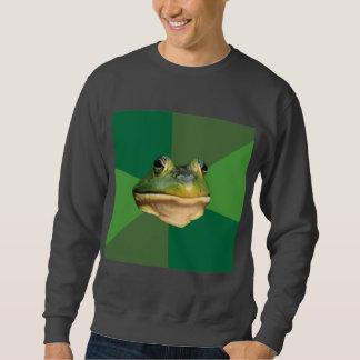 Animal asqueroso Meme del consejo de la rana del Sudaderas Encapuchadas