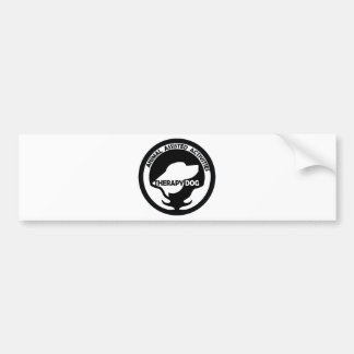 Animal Assisted Activities  - THERAPY DOG logo 01 Car Bumper Sticker