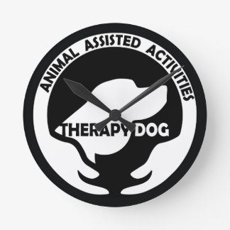Animal Assisted Activities  - THERAPY DOG logo 01 Round Clock
