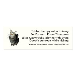 Animal-Assisted Therapy/Activities Card Template Business Cards