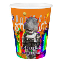 Animal Astronaut Hippo Paper Cup