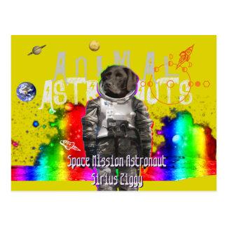 Animal Astronauts Dog Spaceman Postcard