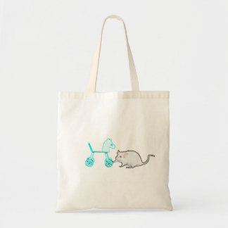 animal azul conmovedor del esquema del caballo del bolsa de mano