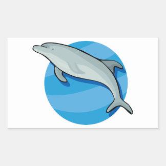Animal azul del océano de los mamíferos marinos de pegatina