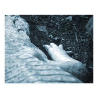 """animal azul del tinte del derecho del cocodrilo de folleto 8.5"""" x 11"""""""