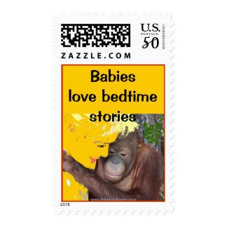 Animal Babies love Bedtime Stories Postage