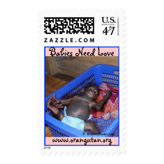 Animal Babies Need Love Postage
