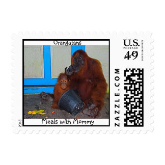 Animal Baby with Mommy Borneo Postage